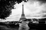 Paris sur Seine Collection - The Eiffel Tower and the Quays Photographic Print by Philippe Hugonnard
