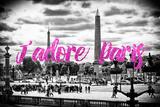 Paris Fashion Series - J'adore Paris - Place de la Concorde II Photographic Print by Philippe Hugonnard