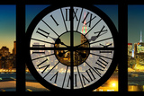 Giant Clock Window - View on the New York Skyline at Dusk VI Photographic Print by Philippe Hugonnard