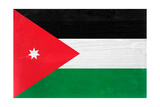 Jordan Flag Design with Wood Patterning - Flags of the World Series Art by Philippe Hugonnard