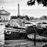 Paris sur Seine Collection - Seine Boats V Photographic Print by Philippe Hugonnard
