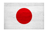 Japan Flag Design with Wood Patterning - Flags of the World Series Posters by Philippe Hugonnard