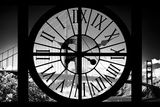 Giant Clock Window - View of the Golden Gate Bridge - San Francisco V Photographic Print by Philippe Hugonnard
