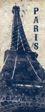 Eiffel Tower in Indigo Prints by N. Harbick