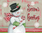 Christmas Snowman II Posters by Kimberly Poloson