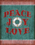 Peace Joy Love Poster by Todd Williams