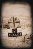 Two Tracks Print by George Johnson