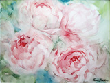 Pink Peonies I Posters by Paula Giltner