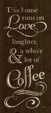 Runs on Coffee Prints by N. Harbick