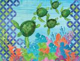 Geo Ocean Turtles Prints by Paul Brent