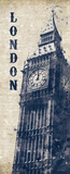 Big Ben in Indigo Prints by N. Harbick