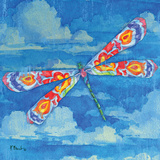 Wild Blue Dragonfly Prints by Paul Brent