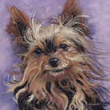 Teacup Yorkie Art by Becky Golubski