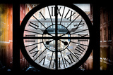 Giant Clock Window - View on the Streets of Manhattan - 10th Avenue Photographic Print by Philippe Hugonnard
