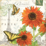 Carte Postale Sunflowers I Prints by Julie Paton
