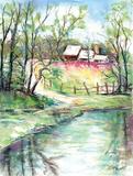 George Washington Carver Pond Print by Todd Williams