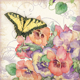 Pansies & Butterflies Posters by Julie Paton