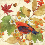 Flora & Tanager II Prints by Julie Paton
