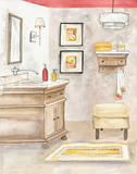 Watercolor Bath I Posters af Margaret Ferry