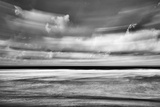 Beach in Motion BW Posters by Lee Peterson