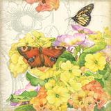 Primrose & Butterflies Prints by Julie Paton