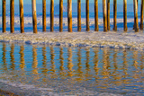 Pier Reflections I Prints by Lee Peterson
