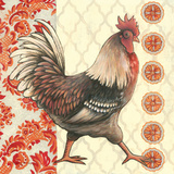 Bohemian Rooster I Prints by Kimberly Poloson