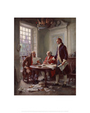 Writing the Declaration of Independence Giclee Print by Jean Leon Gerome Ferris
