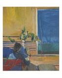 Girl with Plant, 1960 Kunst av Richard Diebenkorn