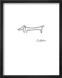 Hunden Poster av Pablo Picasso
