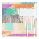 Vibrant Paint Drip II *Exclusive* Giclee Print by Julie Silver