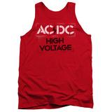 Tank Top: AC/DC- High Voltage Stencil Tank Top