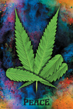 Peace Pot Leaf Poster