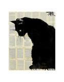 Black Cat Print by Loui Jover
