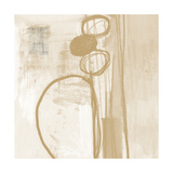 Contemporary Camel and Ash Abstract Posters by Linda Woods