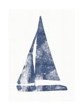 Blue Sail Boat 2 Kunst von Linda Woods