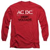Long Sleeve: AC/DC- High Voltage Stencil T-Shirt