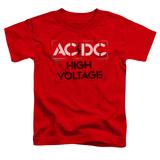 Toddler: AC/DC- High Voltage Stencil T-shirts