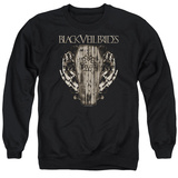 Crewneck Sweatshirt: Black Veil Brides- Casket Roses T-Shirt