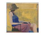 Seated Figure with Hat, 1967 Kunst av Richard Diebenkorn