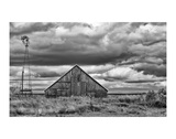 Windmill and Barn Print by Trent Foltz
