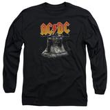 Long Sleeve: AC/DC- Hell'S Bells Emblem T-Shirt