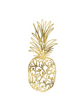 Golden Pineapple 2 Premium Giclee Print by Linda Woods