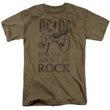 AC/DC- Those About To Rock Faded T-shirts