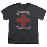 Youth: Bon Jovi- Distressed Bad Medicine Cross Shirts