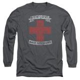 Long Sleeve: Bon Jovi- Distressed Bad Medicine Cross T-shirts
