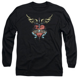 Long Sleeve: Bon Jovi- Heart & Dagger Tattoo T-shirts