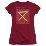Juniors: Circa Survive- Floral Bloack Logo T-shirts