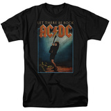 AC/DC- Let There Be Rock Distressed Stamp T-shirts