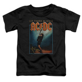 Toddler: AC/DC- Let There Be Rock Distressed Stamp T-shirts